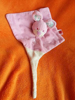 "Tex Baby Pink Rabbit Comforter Blankie Doudou Baby Soft toy 13"""