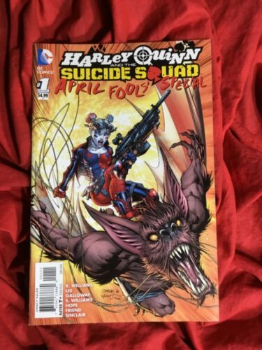 HARLEY QUINN & THE SUICIDE SQUAD APRIL FOOLS DAY SPECIAL~JIM LEE MAN-BAT ART~