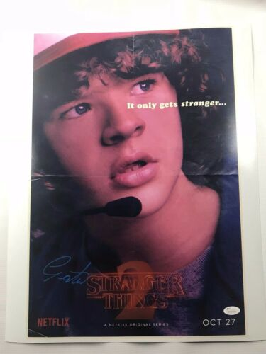 Gaten Matarazzo Signed Stranger Things 16x20 Picture Ghostbusters Dustin JSA 3