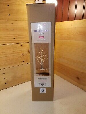 """Hairui 18"""" Pre-Lit Birch Tree Warm White LED 24lt"""