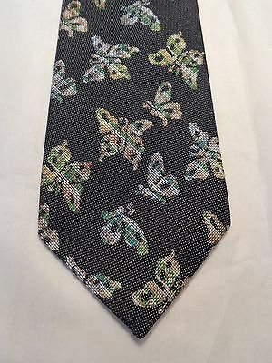 "VINTAGE PEDIGREE MENS TIE 1950'S 1960'S 1970'S FASHION FUN 4"" X 58.5""BUTTERFLIES"
