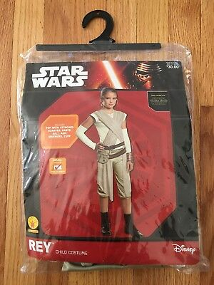 Disney Star Wars Tan Cream Rey Costume Outfit Child Small (size 4-6) for 3-4yeas (Star Costume For Baby)