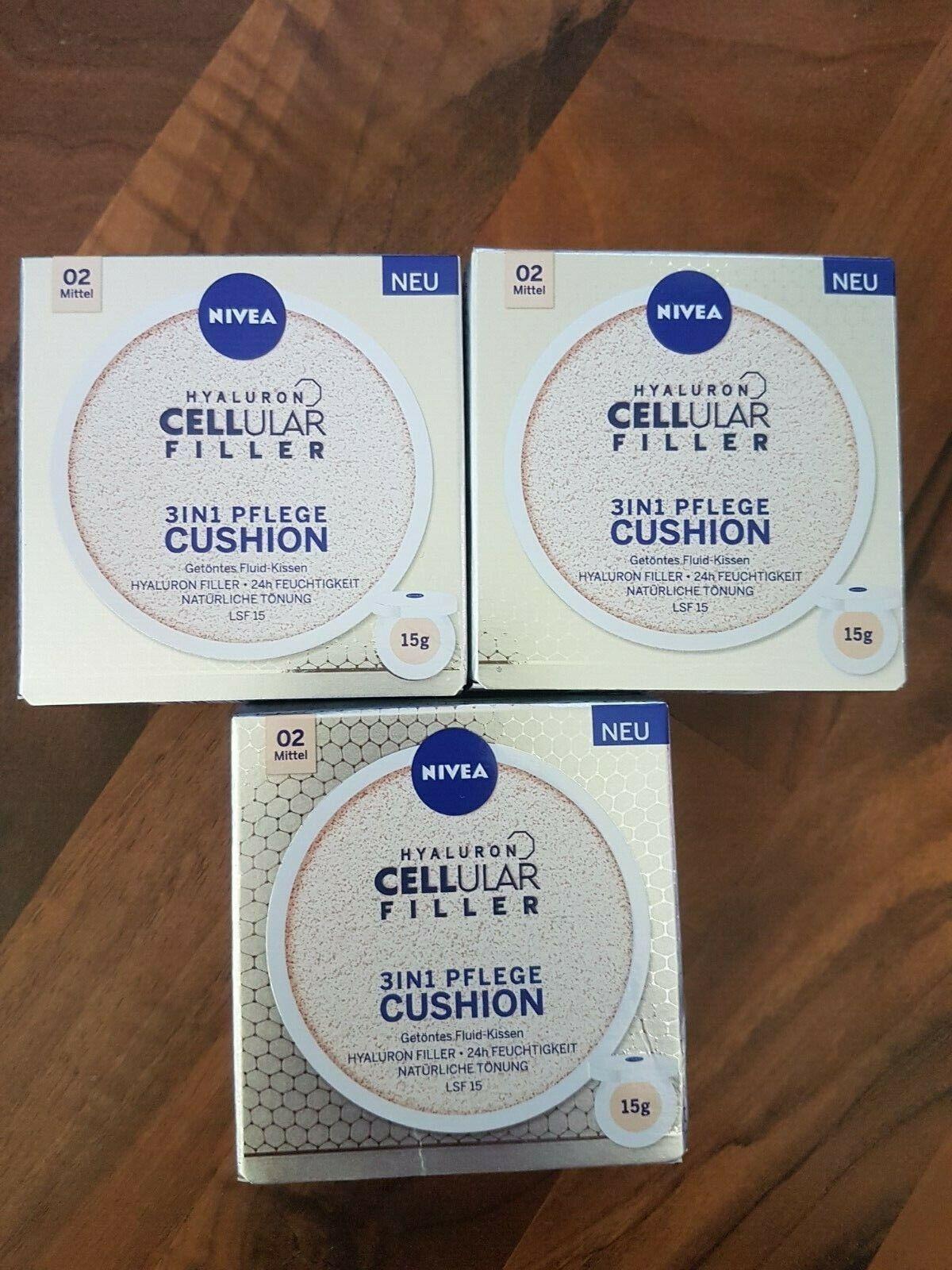 Nivea Hyaluron Cellular Filler 3in1 Pflege Cushion Make-up Foundation 02 mittel