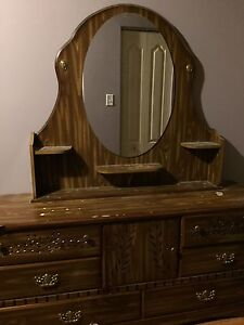 Dresser with mirror. Large