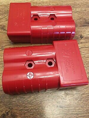 2 Electric Forklift Battery Connector Housings Sb350a With Red Color