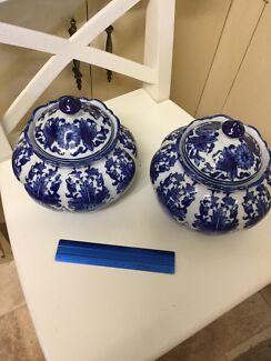 Vintage Blue pots