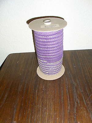 (0,25€/m) violett/lila mit hell gold Band/Borte 1,5cm breit 100m auf der Rolle