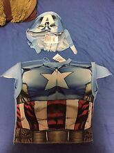 Marvel avengers captain America kids costume vest and mask Greenacre Bankstown Area Preview