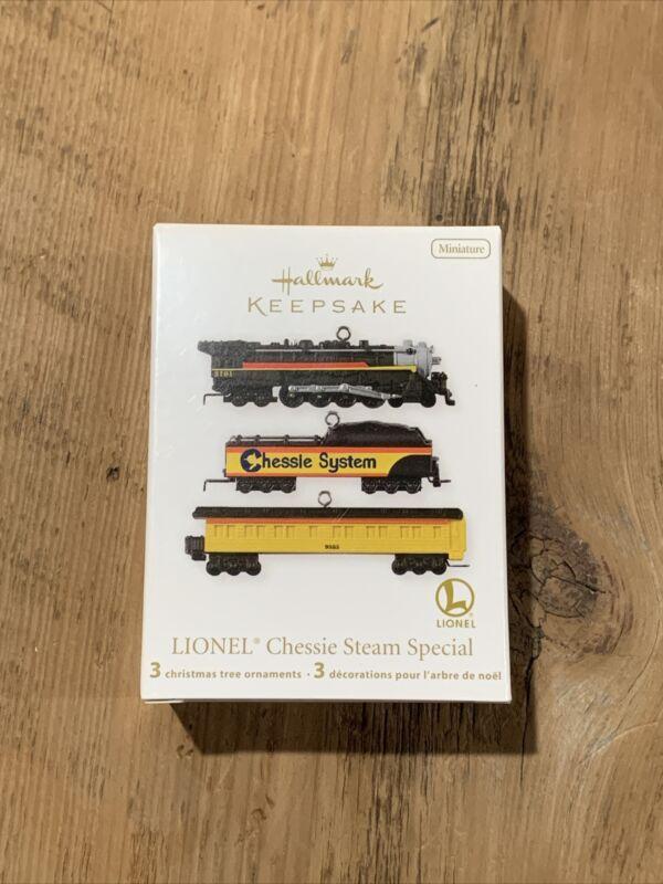 NEW, 2012 Hallmark Keepsake - Lionel Chessie Steam Special Mini Ornament Set
