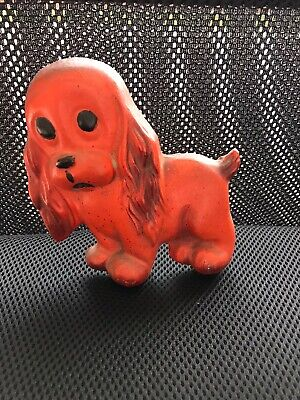 Vintage Wall Hanging Pottery Red dog Kitsch Retro