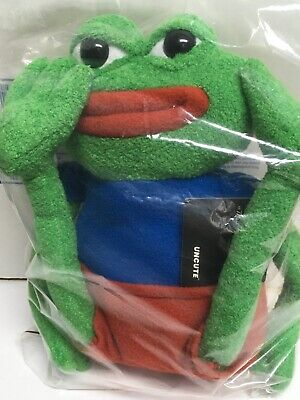 Pepe the Frog Official Plush New Sealed Bag (Hashtag Collectibles)