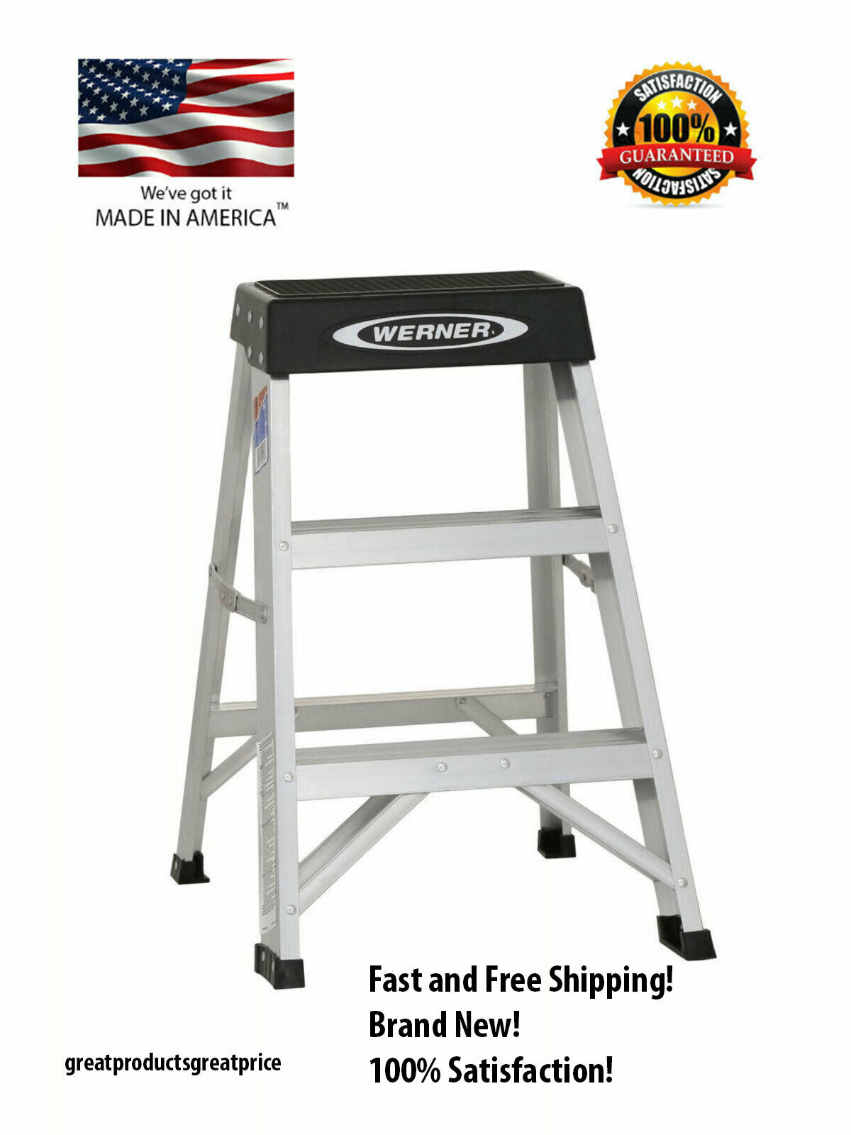 Werner 2-ft Aluminum Type 1A Duty Rating - 300 lbs. Capacity