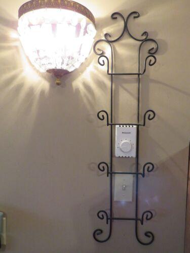 Plate Rack, Wall Mount, Display Rack, Plate Holder, 4 plate, Black