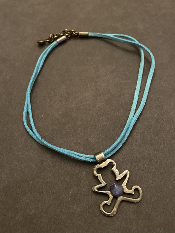 ILARIA Peruvian Handcrafted Sterling Silver 925 Pendant on Faux leather Cord
