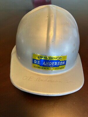 Vintage Metal Aluminum Jackson Products Hard Hat