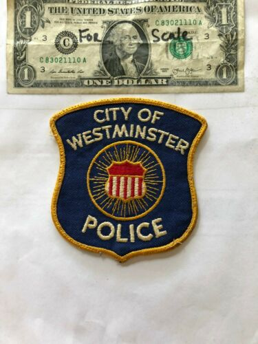 OLD Westminster Maryland Police Patch pre-sewn in good shape