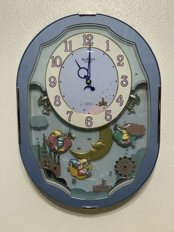 Small World RHYTHM CLOCK Animated Musical Motion plays 6 songs. Tested Fuctional
