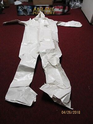 Dupont Tychem Sl122b Wh Chemical Suit Coverall Boot Hood Small Large Xlarge 2x