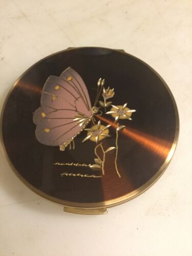 VINTAGE STRATTON ENGLAND COMPACT MIRROR BUTTERFLY