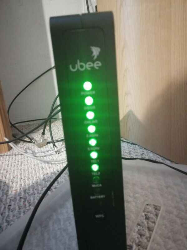 Ubee UBC1301 UBC1301-AA00 Wireless Voice Gateway Modem WiFi Router