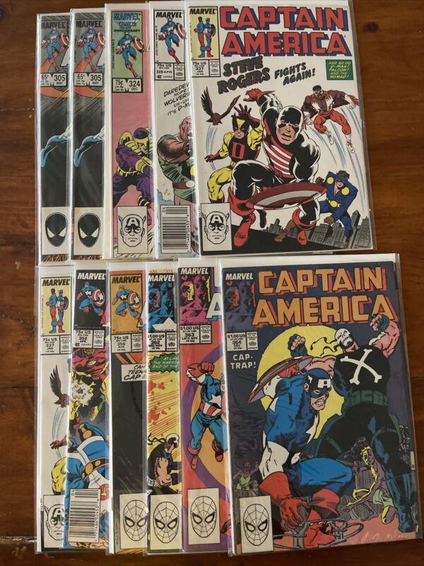 Captain America #305 324 328 337 352 356 362 363 364 1ST PRINTS Marvel VF/NM LOT
