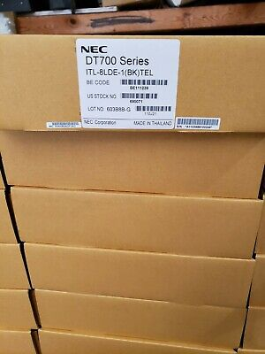New Nec Dt710 Itl-8lde-1 690071 Black 8 Button Telephone