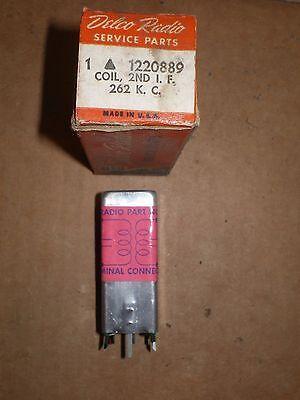 NOS DELCO RADIO 1220889 2nd I.F COIL 262 K.C.