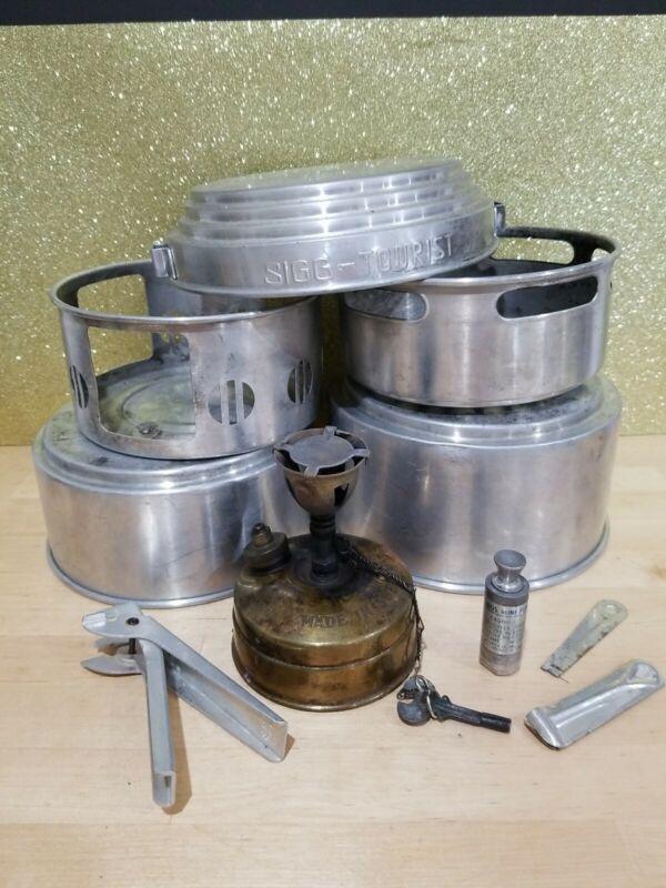 Vintage Sigg-Tourist Pan Cook Set Svea 123 Camp
