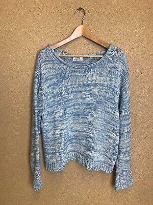 ACNE Studios Sapata Twist Cotton Knit Jumper Sweater Blue Size Small - A29