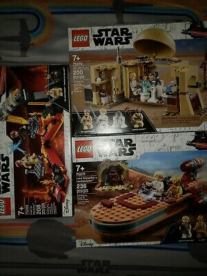 Lego Star Wars Lot 75269,75270,75271 Obi Wans Hut,Dual on Mustafar,Landspeeder