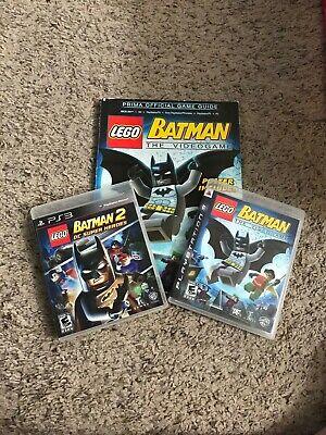 LEGO Batman 1 & 2 PS3 Games with Bonus Game Guides