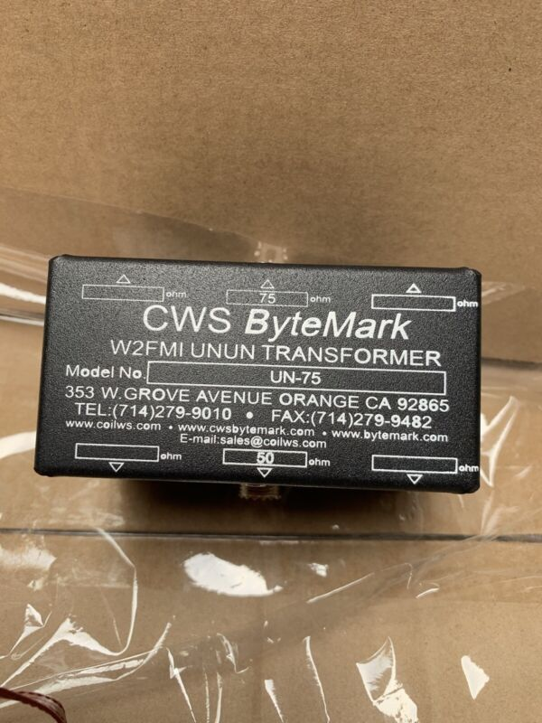 Unun 50 ohms to 75 ohms designed by W2FMI. Unbalanced to Unbalanced Transformer