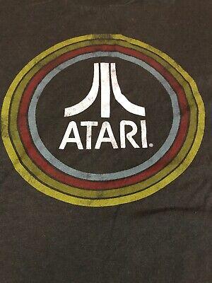 Atari Entertainment Technologies Gamer  Vintage Retro Shirt Mens Large Gray R02