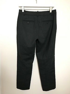 J CREW City Fit Pant Wool Slim Ankle Crop Chino Pants Stretch Size 0 Dark Olive