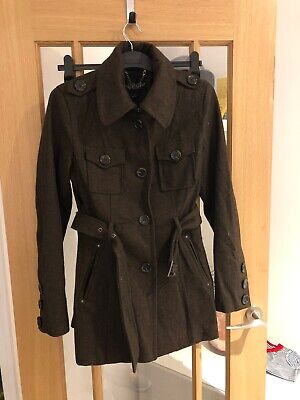 Jill Stuart Size Small S Brown Coat With Belt Detail - Immaculate Condition