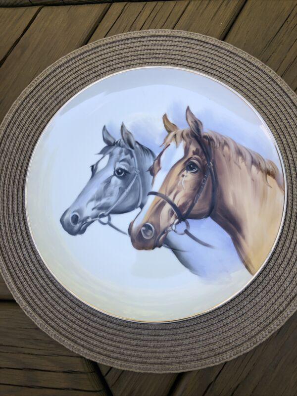 Vintage NORCREST Plate - Two Horse Heads - P-698