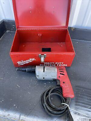 Milwaukee 6583-1 Heavy Duty Screw Shooter 120 Volt 4.5 Amp 1000 Rpm Euc Jd