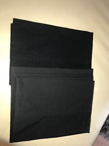 2 Black Pillow Cases for a Standard Pillow NEW