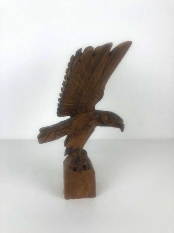 Ironwood Eagle Carving Made In Mexico