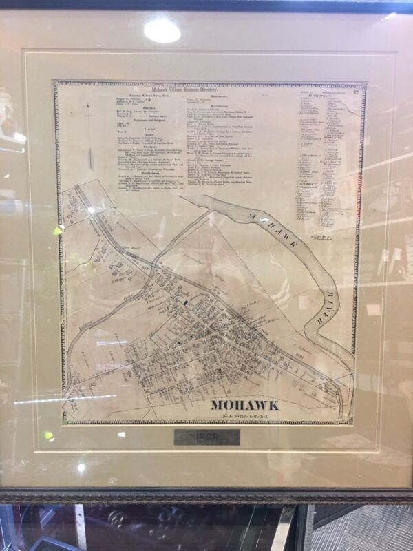 1868   City of Mohawk New York ....Map,,,framed