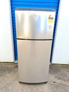 Large Whirlpool Fridge Freezer Stainless Steel 410 litres