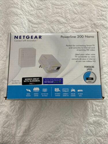 NEW Netgear Powerline 200 Nano XAVB2101 Ethernet Internet Wall Plug Pair of 2