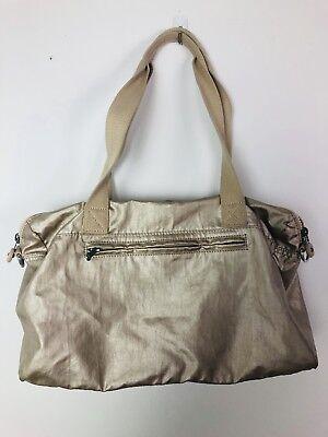 Kipling Gold Nylon Handbag satchel Travel Bag Purse
