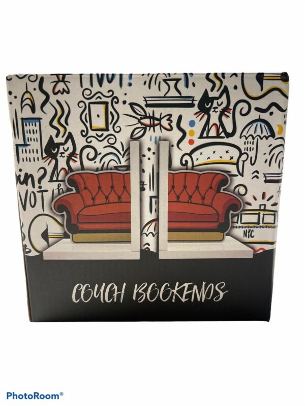 Friends TV Show Orange Couch Bookends NEW NIB CultureFly