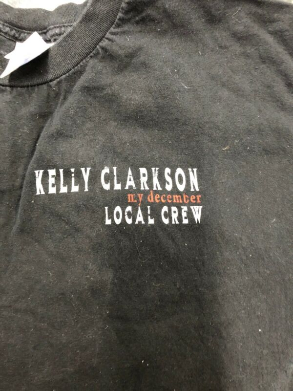 Vintage T Shirt - Kelly Clarkson Local Crew Tour Tennessee River Idol L Black