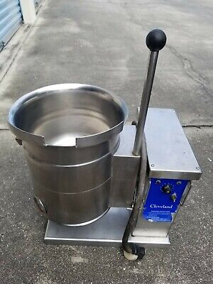 Cleveland Ket-3-t Countertop Jacketed Steam Kettle 220v Single Phase.