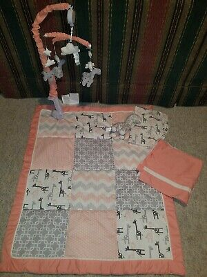 Uptown Girl Giraffe Patchwork 7 Piece Baby Crib Bedding Set by The Peanut Shell