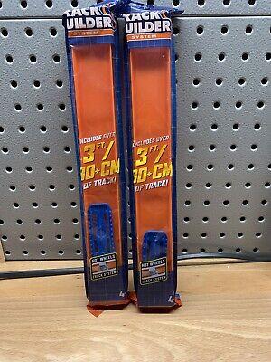 NEW Hot Wheels Track Builder Straight Track Pack Orange Mattel 2 Four Packs