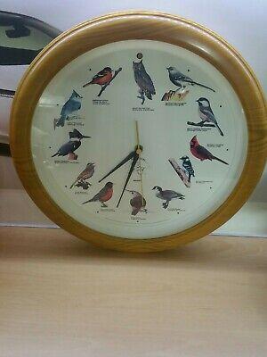 NATIONAL AUDUBON SOCIETY Quartz Singing Bird Clock 13 1/4'