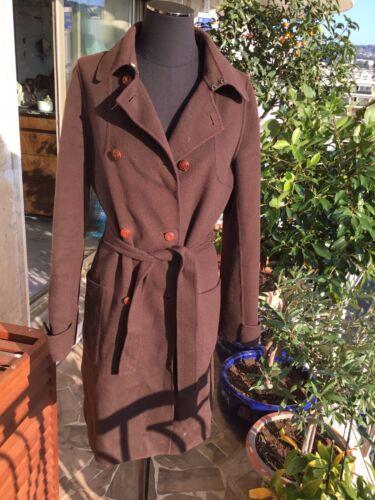 Tres beau manteau laine marron paul & joe 38=36 tbe